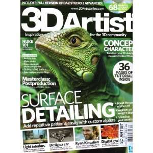 3D Artist Magazine. Surface Detailing. 36 Pages of