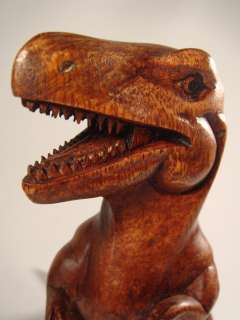 Bali Hand Carved Wood Sculpture T Rex Tyrannosaurus Dinosaur