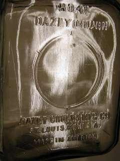 ANTIQUE # 40 DAZEY GLASS HAND CRANK FARM TOOL BUTTER CHURN