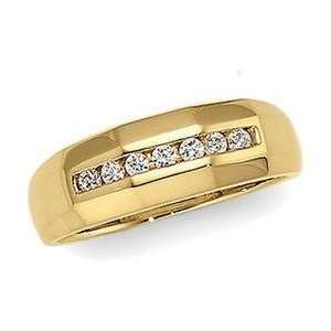 14K Yellow Gold Diamond Wedding Band Ring Size 10 Sports