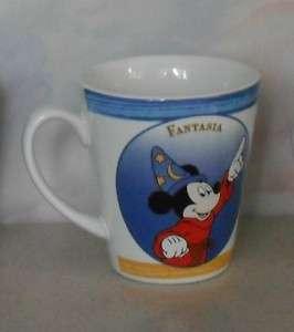 Disney Fantasia Mickey Mouse mug cup stoneware cone shaped 4H blue