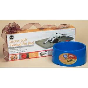 Dog Gift Set 7   Large Heated Bed & Heated Bowl Pet