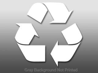 Recycle Logo Window Decal   sticker vinyl recycling