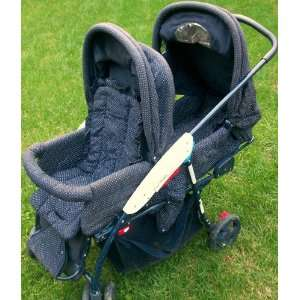 Navy Blue, Baby Toddler Double Stroller Baby