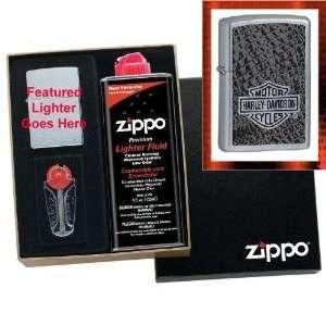 Harley Davidson   Reptile Skin Zippo Lighter Gift Set