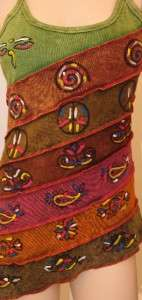 Tie Dye Yoga Patchwork Hippie Boho Bohemian Tank Top Shirt