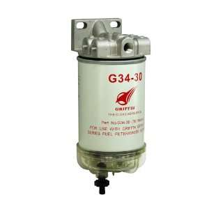 Griffin G341 30 Spin On Fuel Filter / Water Separator Automotive