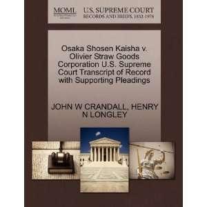 Pleadings (9781270236757) JOHN W CRANDALL, HENRY N LONGLEY Books
