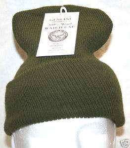 MIL SPEC OD OLIVE DRAB GREEN WOOL WATCH CAP HAT NEW