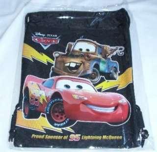 Disney Pixar Cars Drawstring Backpack Sling Bag Black *