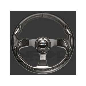 NRG Unviersal 300mm Sport Leather Steering Wheel Blue Trim