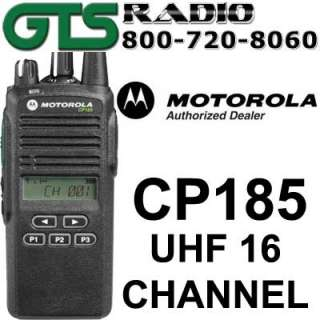 MOTOROLA CP185 16CH UHF RADIO CP 185 SIX BANK CHARGER