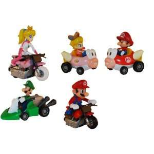 Super Mario Kart Figures Set of 5 Toys & Games