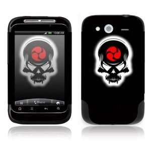 HTC WildFire S Decal Skin Sticker  Samurai Death Skull