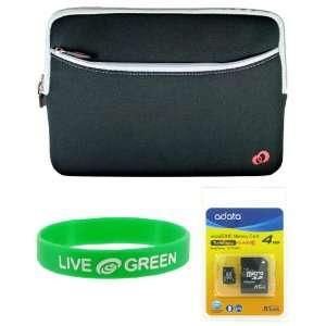 MSI Wind U120 10 Inch Netbook Neorpene Sleeve Case and 4 GB Micro SDHC