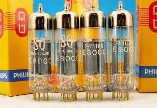 BIG O Getter STRONG MATCHED QUAD E80CC SQ PHILIPS NIB Gold pin TUBE