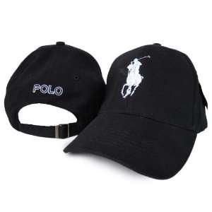 Polo by Ralph Lauren   Black Adjustable Cap Hat Sports