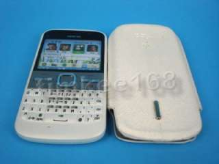 White Leather pouch case cover for Nokia E5