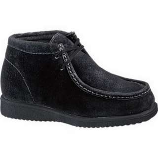 KID HUSH PUPPIES BLACK SUEDE ANKLE HIGH BOOTS 2 M 0 18467 52923 1