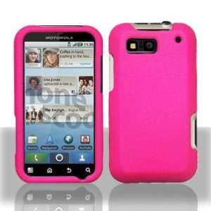 Motorola DEFY (MB525 for T Mobile) Hot Pink Snap On Protective Case