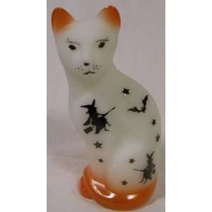 Fenton 5 Stylized Cat Sand Carved Halloween Witches