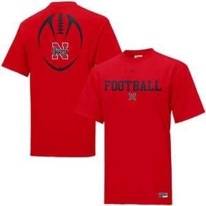 Nike Nebraska Cornhuskers Red Team Issue T shirt Sports