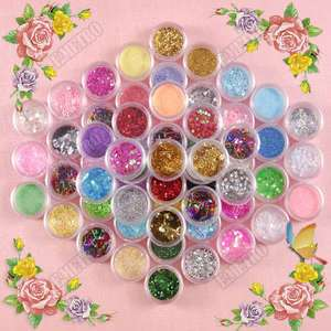 Colors Bling Glitter Dust Powder Set for Pro Nail Art Decoration