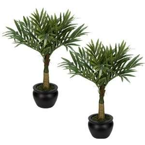 Palm Trees Tropical Silk Decor Plants Pre potted