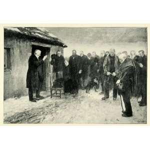 1898 Print Highland Funeral Men Burial Costume Fashion