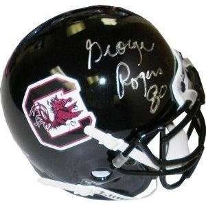 Autographed George Rogers Mini Helmet   Authentic