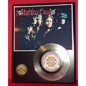Motley Crue 24kt Gold Record LTD Edition Display ***FREE