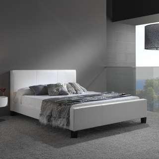 Euro White Full Platform Bed