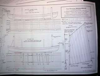 MODEL SHIPWAYS New Bedford Whaleboat PLANS