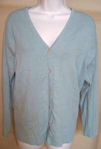NWT Pierri New York Powder Blue Cardigan Sweater Small