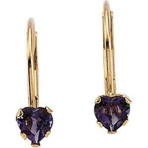 Designer Jewelry Gift 14K Yellow Gold Childrens Genuine Amethyst