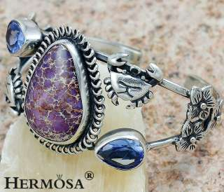 Rare Handmade Fabulous Purple Copper Turquoise . Sterling Silver