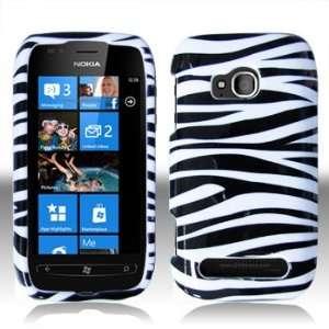 Nokia 710 Lumia ( Mobile) Black Whie Zebra Case Cover