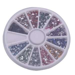 Pcs Square Nail Art Nailart Manicure Glitter Tips Rhinestone Wheel Kit