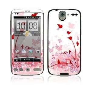 HTC Desire Skin Decal Sticker   Pink Butterfly Fantasy