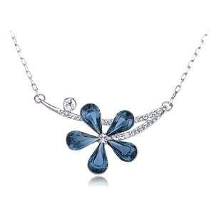 Montana Blue Asymmetrical Solo Fragile Daisy Swarovski Crystal Element