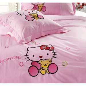 Hello Kitty BED Single or Full Size Pink Sheet Fitted Sheet Pillowcase