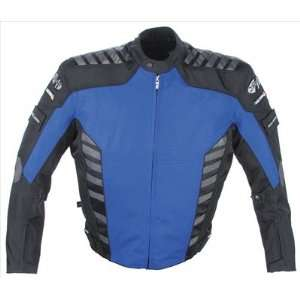 Joe Rocket Airborne Mens Textile Motorcycle Jacket Blue/Black Small S