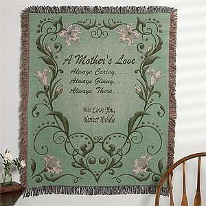 Personalized Tapestry Afghan for Mom   A Mothers Love