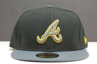 New Era 59fifty Fitted Atlanta Braves 7 Black/ Grey