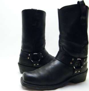 DURANGO BLK LEATHER HARNESS MOTORCYCLE BIKER WORK BOOTS SZ 9.5~1/2 EE