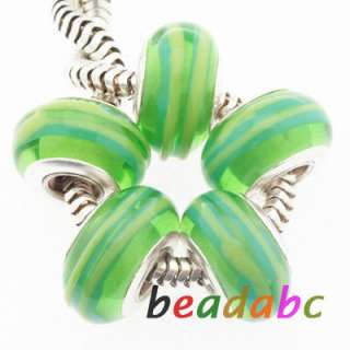 European Glass beads Fit Charm Bracelets Loose Beads jewelry Lot