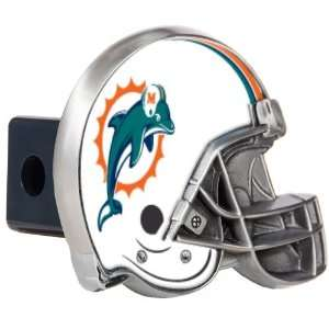 Miami Dolphins Metal Helmet Trailer Hitch Cover Sports