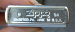 Vtg Zippo Lighter Satin Finish Chrome Never used