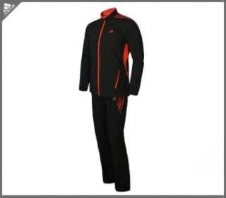 Adidas $140 Adizero Mens XL Track Jacket Pant Suit Top Black Orange