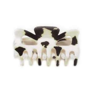 Black And White Cow Hide Acrylic Hair Claw Case Pack 360